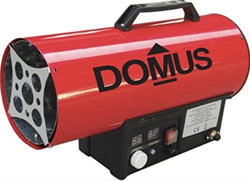 Generatore Aria Calda Portatile A Gas GPL Con Termostato Ambiente Accensione Manuale Con Piezo VOLT 230 KW 15 MC/H 750 CM 52X22 H.CM 34