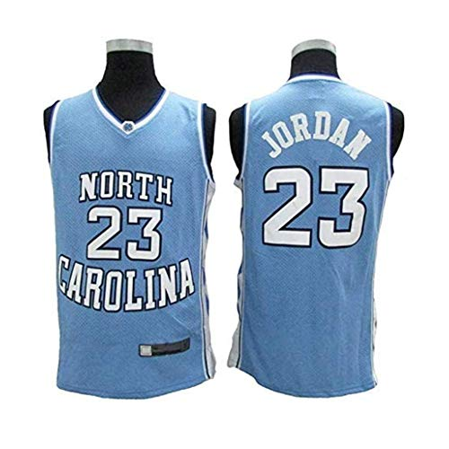 HANJIAJKL Camiseta de Baloncesto para Hombres,NBA Michael Jordan #23 Retro All-Star Jersey,Bordado Transpirable y Resistente al Desgaste,Camiseta de Fan,Azul,M:175cm/65~75kg