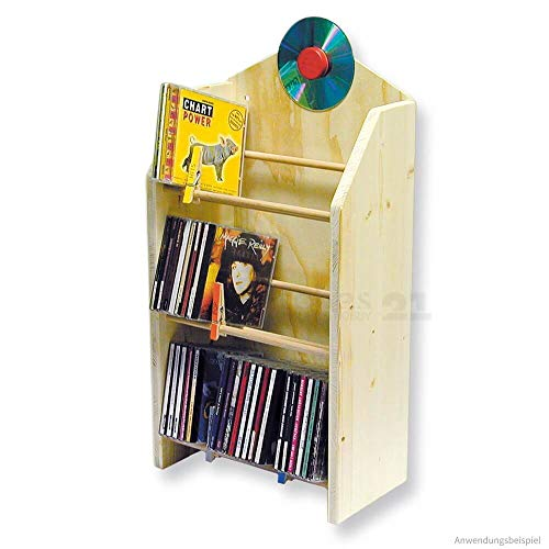 matches21 CD / DVD Regal Massivholz Ständer zur Aufbewahrung als Bausatz Bastelset Werkset f. Kinder ab 12 Jahren