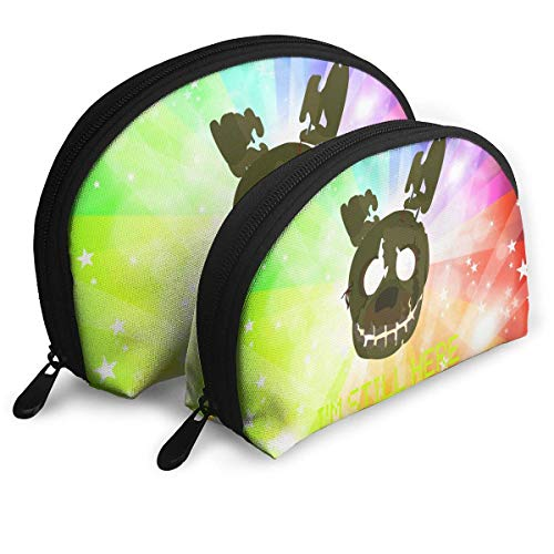DFHSDD Five-Nights'at-Freddy's FN-AF One-Big and One-Small 2pcs Clutch Pouch Coin Purse Cosmetic Travel Storage Bag Woman