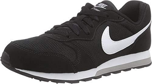 Nike Md Runner 2 (Gs) Low-Top, Black White Wolf Grey, 37.5 EU