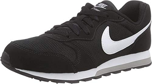 Nike Md Runner 2 (Gs) Low-Top, Black White Wolf Grey, 37.5 EU