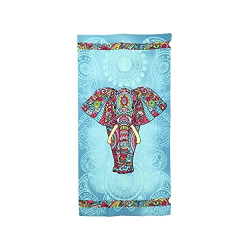 Toalla de Playa Grande Antiarena Toalla 100% Microfibra 90x170cm Toallas de Piscina Grandes Suave y de Secado Rápido - Elefante