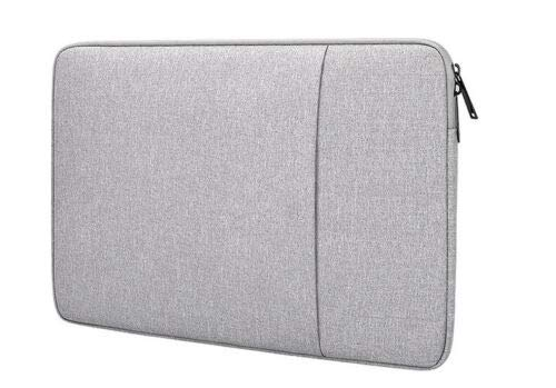 Dot. Laptop Tasche Kompatibel mit Aorus X5 v7 & Jede Andere 15-15.6 Zoll Notebook MacBook Chromebook Schutz Vertikal Weich Trage Schutzhülle - Hellgrau