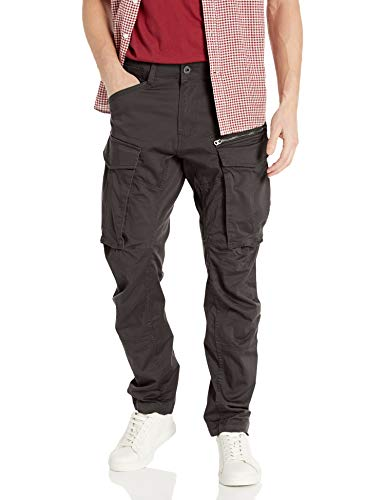 G-STAR RAW Herren Hose Rovic Zip 3D Straight Tapered, Grau (Raven), 33W / 32L