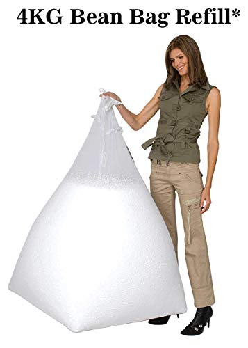 Casa Copenhagen Premium 4 Kg Bean Bag Refill/Filler - Premium White