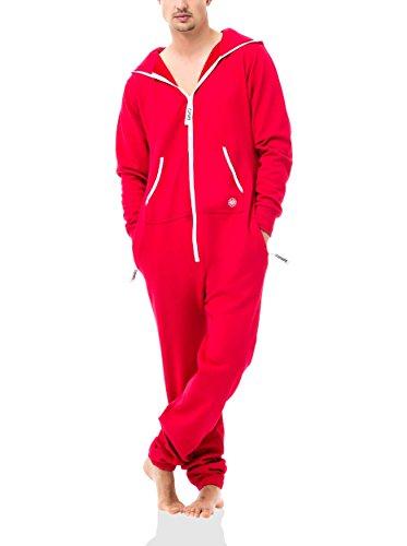 Zipups Mono-Pijama Clean Cut Rojo L