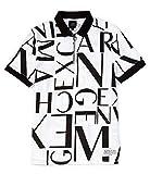 [アルマーニエクスチェンジ] メンズ ポロシャツ Scattered Logo Quarter-Zip Short-Sleeve [並行輸入品]