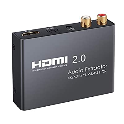 eSynic HDMI Converter with Audio Extractor for Blu-ray Player Xbox PS3 PS4