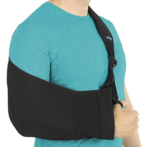 Vive Arm Sling - Medical Support Strap for Collar Bone, Rotator Cuff & Shoulder Injury - Adjustable, Breathable and Lightweight Immobilizer - Padded for Left, Right - For Elbow Dislocation and Sprain