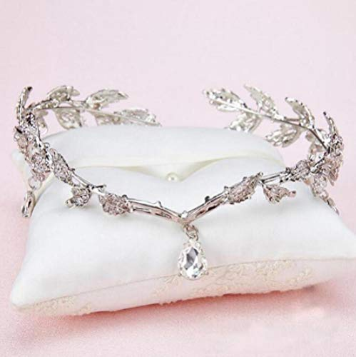 Strass Rose Goud Zilver Bruiloft Bruids Voorhoofd Ketting Hoofdtooi Kristal Hanger Bruids Hoofdtooi Bruiloft Haaraccessoires
