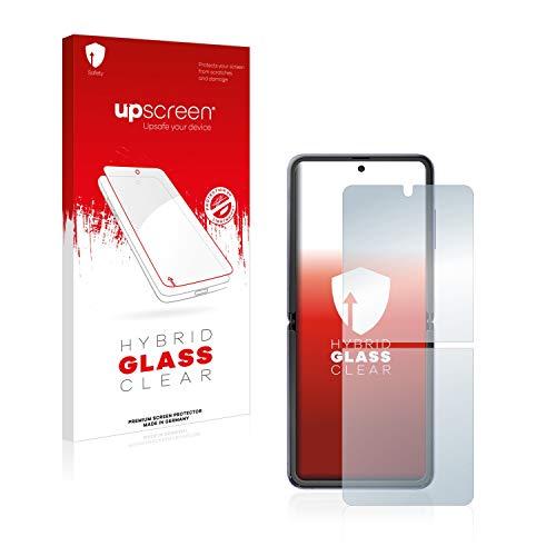upscreen Hybrid Glass Panzerglas Schutzfolie kompatibel mit Samsung Galaxy Z Flip / 5G 9H Panzerglas-Folie