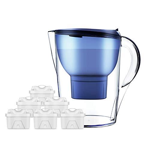 Huishoudelijke Water Filter, vier lagen voor Schone Filtration 360 ° Water Inlet Water Bottle 3.5L grote capaciteit Bionic Ontwerp Water Purifier,M