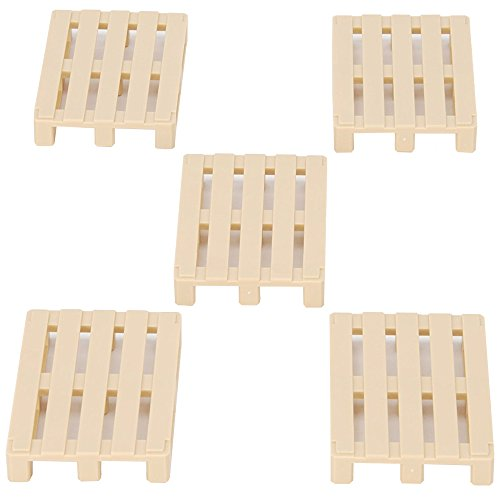 bruder 45004 Miniaturmodell-Zubehör Euro Paletten, 5 Stück, Bunt