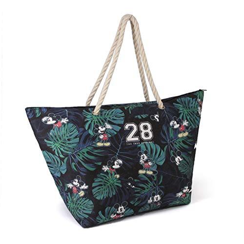 Karactermania Disney Classic Topolino 28-borsa Da Spiaggia Sunny Strandtasche, 60 cm, Mehrfarbig (Multicolour)
