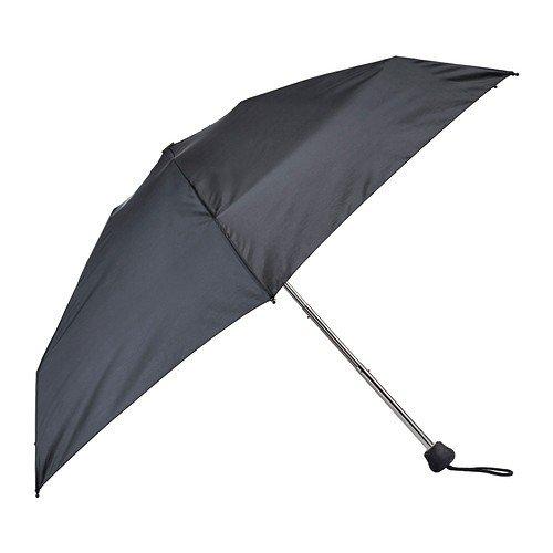 Ikea KNALLA Regenschirm in schwarz; klappbar; (95cm)