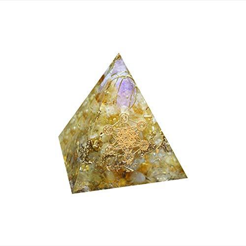 Xianghaoshun Pyramid Crystal Stone, New Inspirational Pyramid For Success, Pyramid For Anti-stress Calmness Growth Strength, Healing Crystal Gemstone Pyramid For Those Who Love Inspiration
