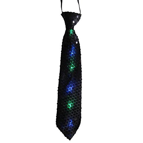 Dress Up America 691.0 Krawatte mit blinkenden LED-Leuchten, unisex-adult, Schwarz, Einheitsgröße