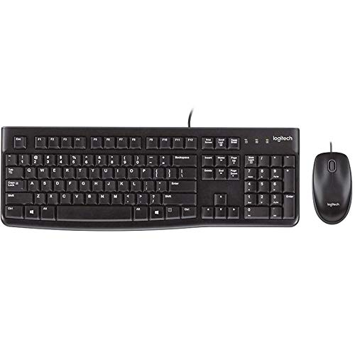 Keyboard and mouse set wired/wireless keyboard and mouse set office keyboard and mouse set computer keyboard notebook keyboard-Wired MK120 black