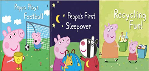 Storybook Collection: Peppa Plays Football, Peppa's First Sleepover and Recycling Fun! (English Edition)
