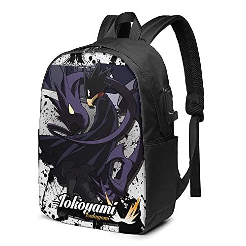 Anime My-He-r-o Ac-ade-mia Collage Anime Aiza Shota Bookbag Daypack Laptop Mochila Mochila con puerto de carga USB, Color 5, Talla única,