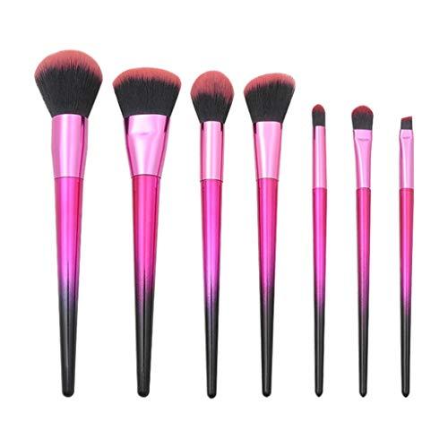 POachers Pinceaux Maquillages 7 pcs- Poignées roses - Pour fard, correcteur, sourcils, lèvres, fond de teint, poudres et crèmes