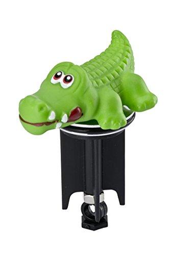 WENKO Bouchon d'évier Pluggy® 3D Crocodile - bouchon de lavabo, pour tous les écoulements courants dans le commerce, Plastique, 5 x 9 x 7.4 cm, Vert