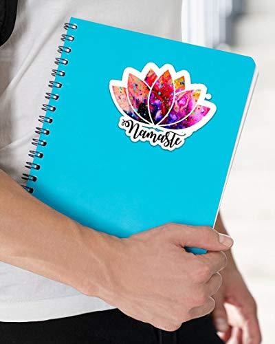 DKISEE 3 piezas por paquete de pegatinas de yoga Namaste, pegatinas divertidas para ordenador portátil, calcomanía para tableta, pegatina de vinilo, 10 cm