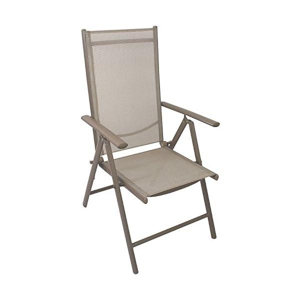 Multistore 2002 5tlg. Gartenmöbel Set Sitzgruppe Aluminium Polywood/Non Wood Gartentisch 150x90cm + 4X Hochlehner mit…