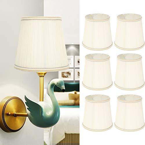 Lampadario in stoffa paralume a sospensione, 6 pezzi per casa moderna lampada da parete copertura paralume lampadario paralume accessorio luce beige per casa hotel lampada a sospensione a soffitto