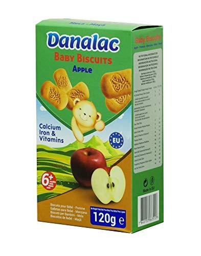 Danalac Biscuits Saveur de Pomme pour 6+ Mois Bébés 120 g