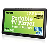 10.8 Inch Portable Digital ATSC TFT HD Screen Freeview LED TV for Car,Caravan,Camping,Outdoor or Kitchen.Built-in Battery Television/Monitor with Multimedia Player Support USB Card Aspure