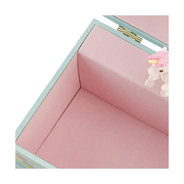 RR ROUND RICH DESIGN Kids Musical Jewelry Box for Girls and Jewelry Set with Magical Unicorn - Blue Danube Tune Pink 8