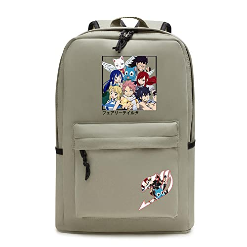 ZXXFR Mochila bolsos Anime Fairy Tail School Bag Estudiante Adolescente Bolsa de computadora senderismo portatil ordenador instituto escolares juveniles bolso