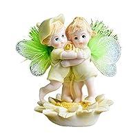 天使の花の妖精の像の彫刻人形エルフの赤ちゃんの彫像の置物現代の家の装飾ケーキの装飾の装飾子供のChriatmasギフト、8