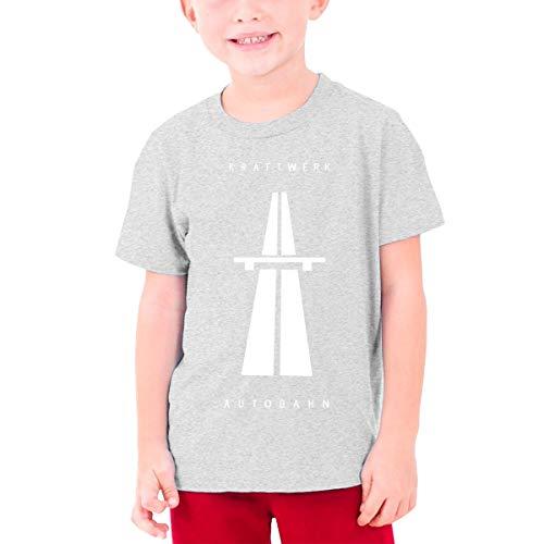 Jugend Jugen Männer Kraftwerk Autobahn Logo Bekleidung T-Shirt Kurzärmlig Gray L Tee T Shirt Rundhalsausschnitt Tshirt Für Teens
