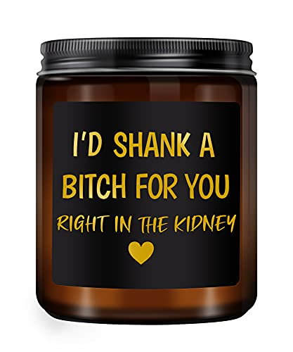 Lavender Scented Candles- Best Friend Birthday Gifts for Women- Funny, Valentines Day Gifts for Friends Female, Women- Friendship Gifts for Sister, Her, Coworker, Bestie, BFF(7oz)