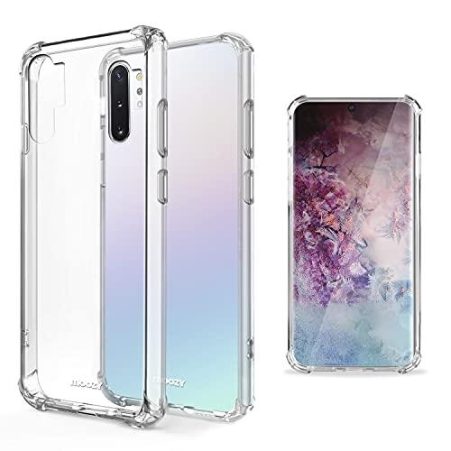 Moozy Cover Silicone Trasparente per Samsung Note 10 Plus - Custodia Antiurto, Crystal Clear Case, TPU Morbido