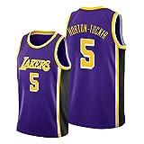Z/A Los Angeles Lakers Talen Horton-Tucker # 5 Ropa De Baloncesto Jersey Men's Sportswear Entrenamiento Deportivo Sudadera Suelta Chaleco De Manga Corta Top Camiseta,S