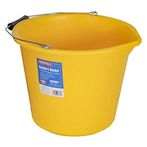 Faithfull 3GBUCKYEL General Purpose Bucket - Yellow