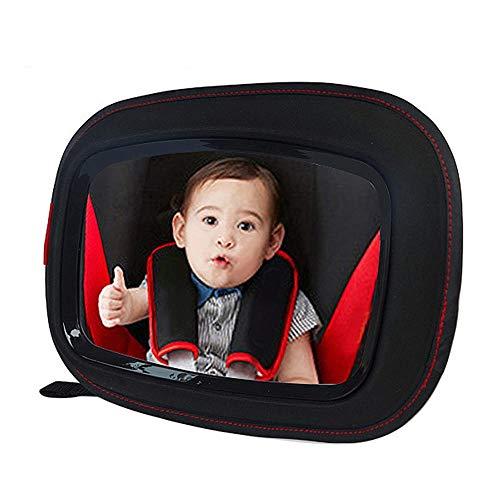 Belleashy Baby-Auto-Spiegel Baby-Auto-Rücksitz Spiegel abgewandte Seite Baby Spiegel Peace of Mind EIN Auge auf Baby in einem hinteren zu Halten gewandten Kindersitz (Color : Black, Size : M)