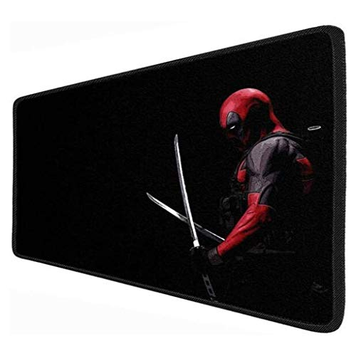 Large Deadpool Gaming Mouse Pad Large Mouse Mat Iron Man Superhero Keyboard Mat Extended Mousepad for Computer Desktop PC Mouse Pad (Color : A, Size : 800x300x3mm)