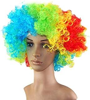 Clown Accessories Explosion Head Short Curly Rainbow Color Wig Headgear