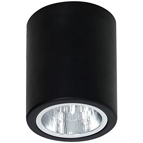Elegante lámpara de techo en negro Bauhaus E27 hasta 60 W, de metal, para pasillo, cocina