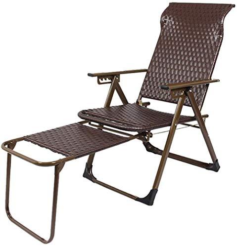 Mochila plegable de mimbre silla de salón silla plegable silla de oficina almuerzo silla individual hogar viejo hombre simple ratán siesta cama silla playa
