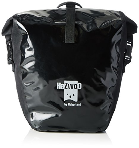 Haberland Unisex– Erwachsene Fahrradtasche Einzeltasche Hazwoo Paar Wasserdicht Schwarz, 50 L