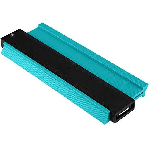 型取りゲージ コンターゲージ 250mm 測定ゲージ 測定工具 (グリーン ロック付き)