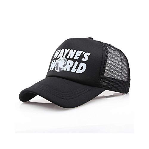 Wayne'S World Baseball Cap Hombres Mujeres Moda Imprimir Deportes al Aire Libre Visera de Verano Hip Hop Sombreros de papá Adolescente Casquette Gorras EP0115
