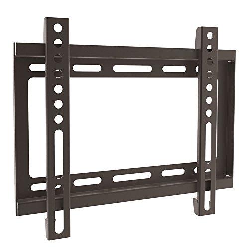 Ewent EW1501 Supporto Fisso Ultra Sottile da Parte per TV da 23 a 42 Pollici, Vesa Fino a 200 x 200 mm, Nero