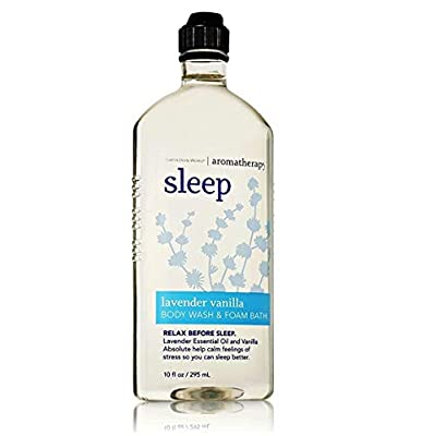 Bath & Body Works Aromatherapy Sleep - Lavender + Vanilla Body Wash & Foam Bath, 10 Fl Oz